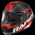 Casco MT Helmets Rapid pro carbon integral red white